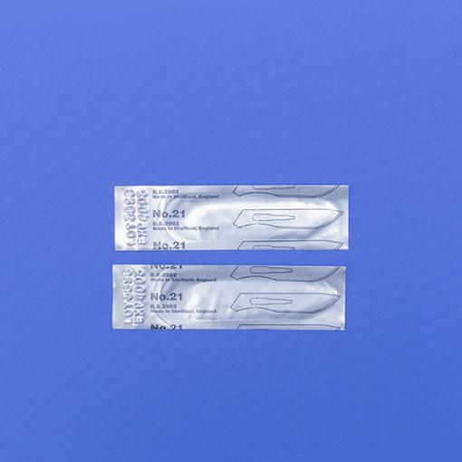 Лезвие съемное для скальпеля стерильное (в уп. 100шт. (импорт))